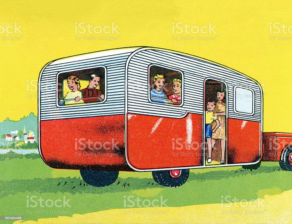 Family on Vacation royalty-free stock vector art