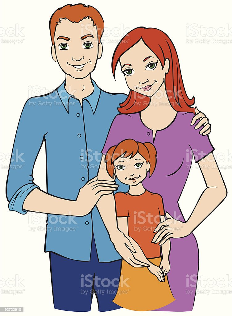 Family Portrait royalty-free stock vector art