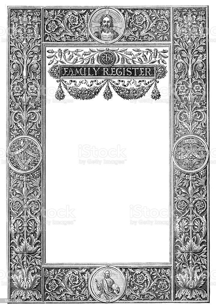 Family Register royalty-free stock vector art