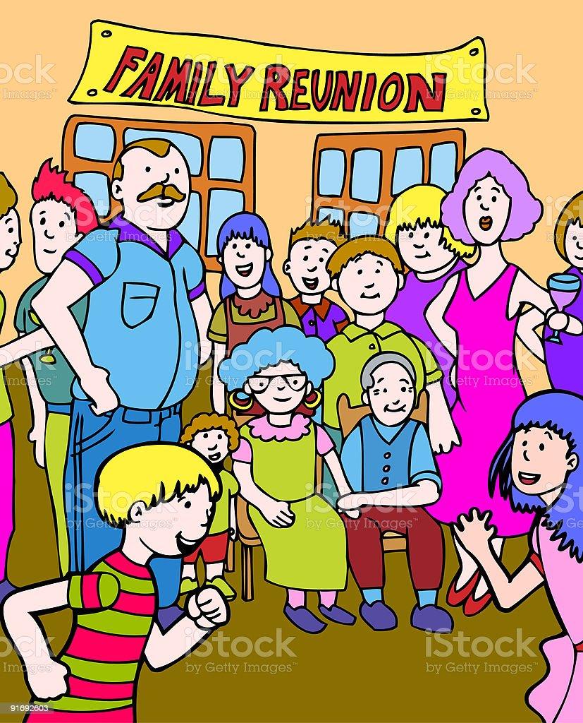 Family Reunion royalty-free stock vector art