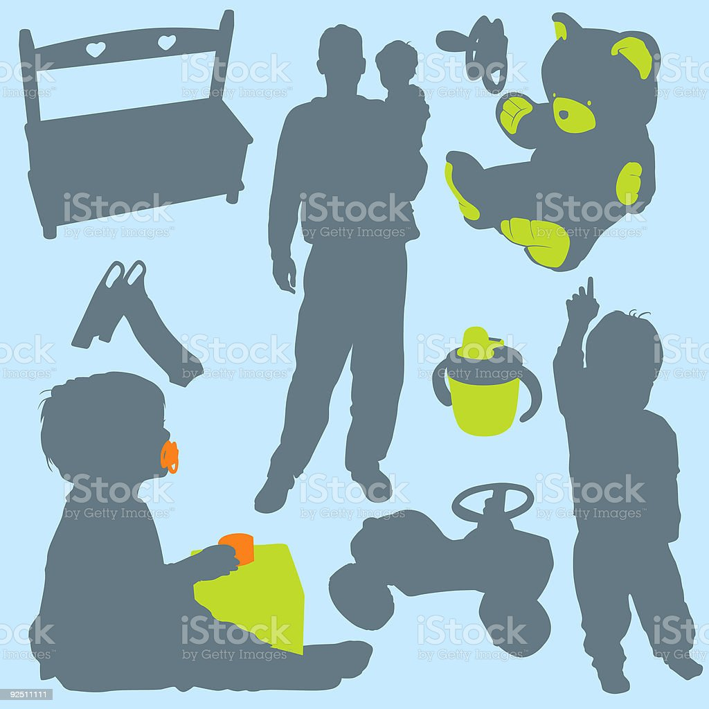 Family Silhouettes 4 (vector) royalty-free stock vector art