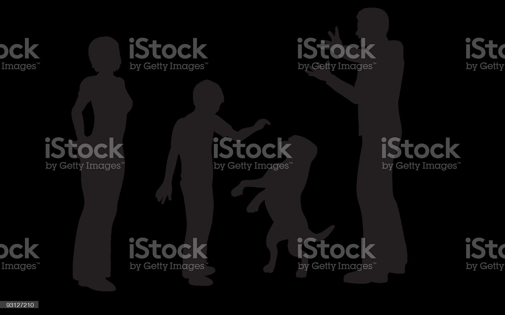 family with dog vector royalty-free stock vector art