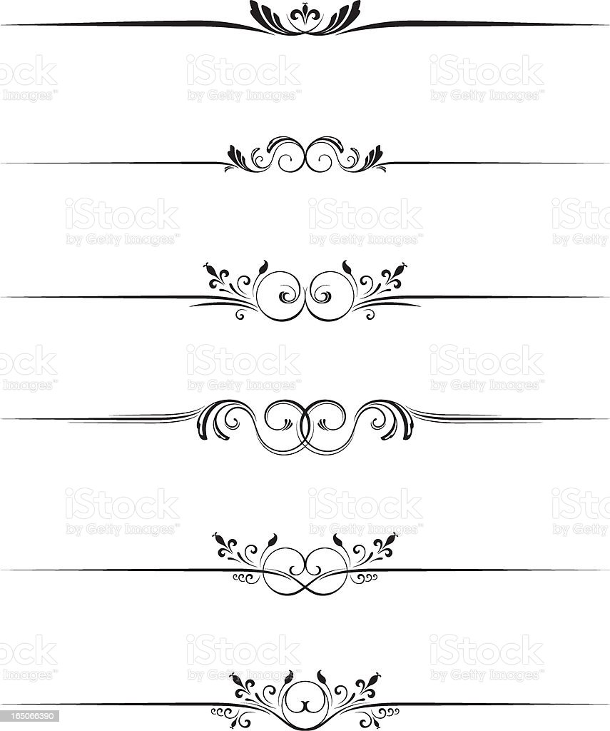 Fancy floral dividers royalty-free stock vector art