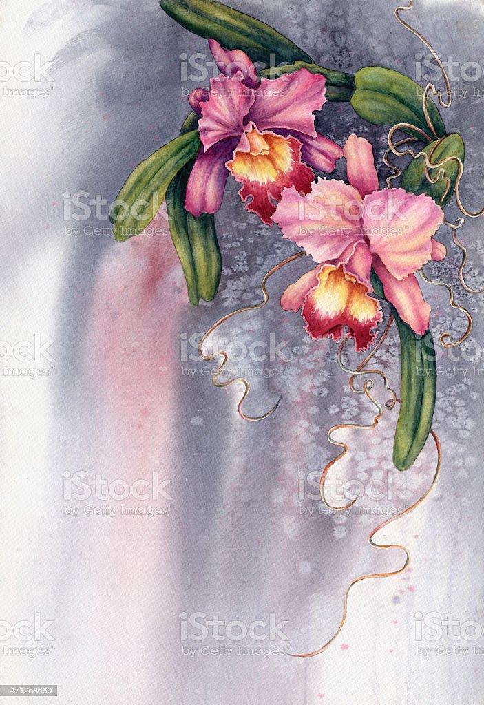 Fancy Flowers vector art illustration