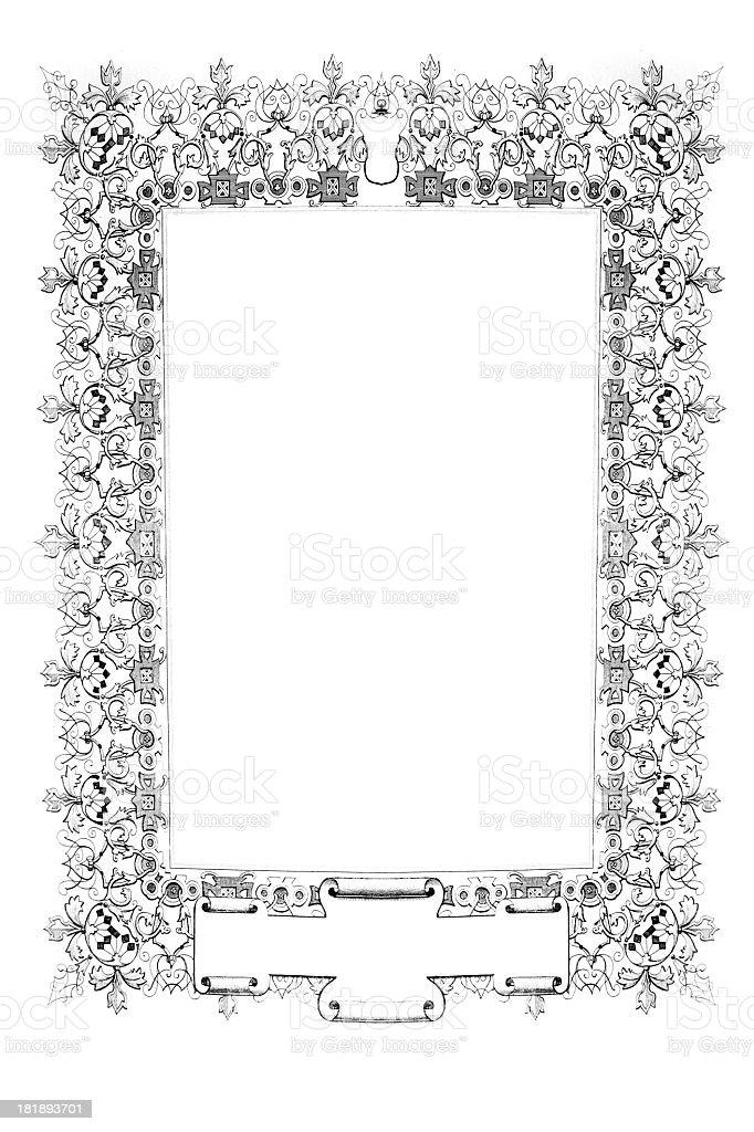 Fancy frame royalty-free stock vector art