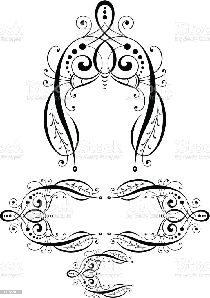 Fancy Scroll  (Vector) royalty-free stock vector art