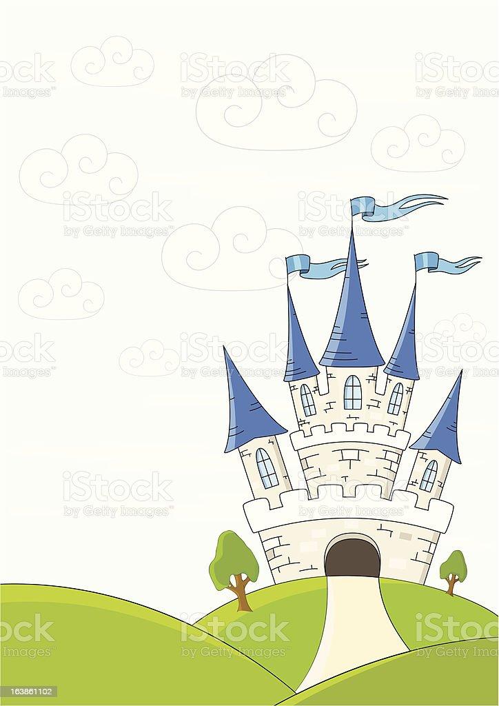 Fantasy castle royalty-free stock vector art