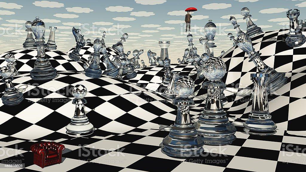 Fantasy Chess vector art illustration