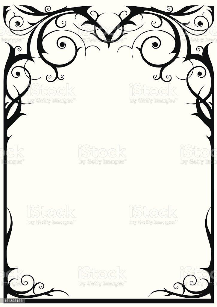 Fantasy frame vector art illustration
