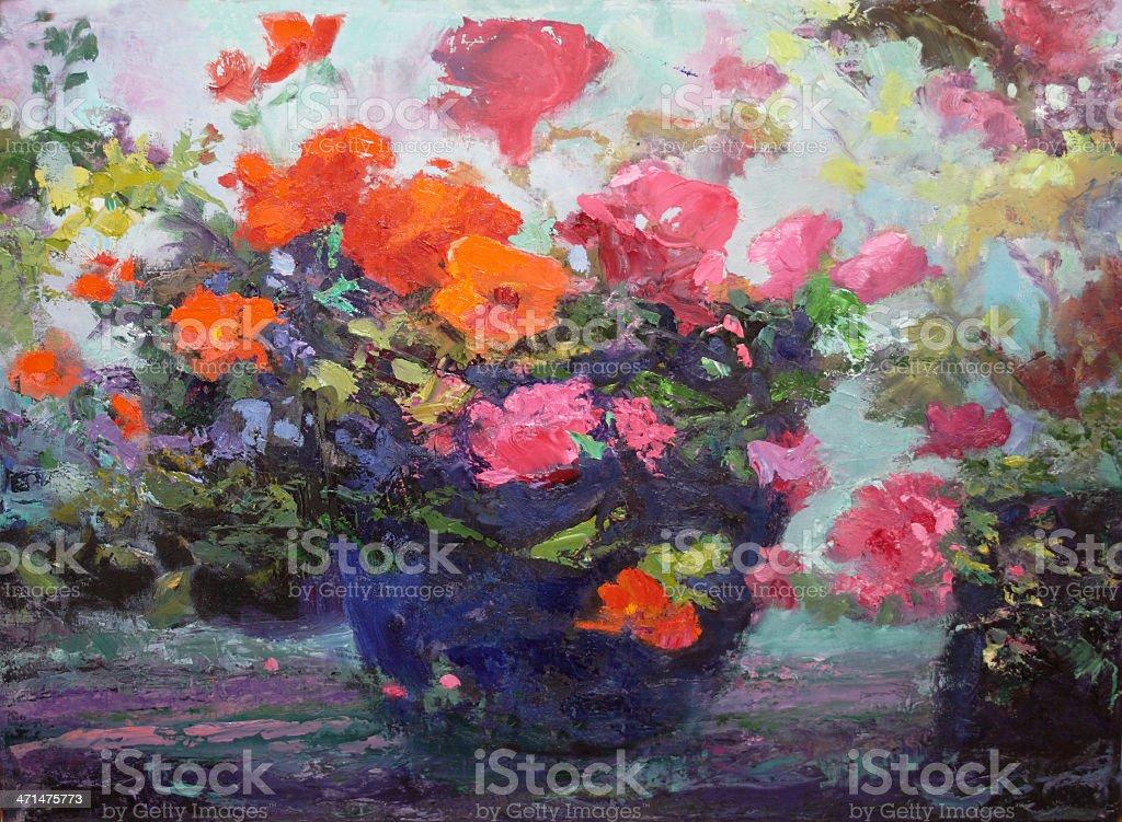 Fantasy in the Garden royalty-free stock vector art