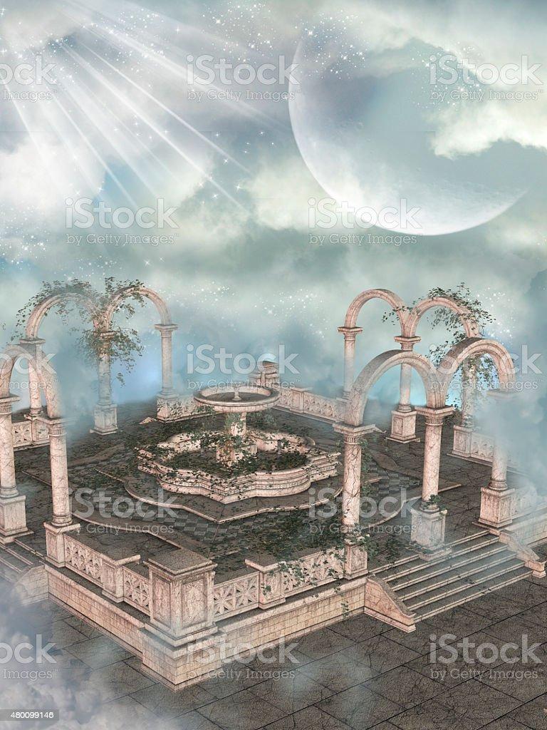 Fantasy Landscape vector art illustration