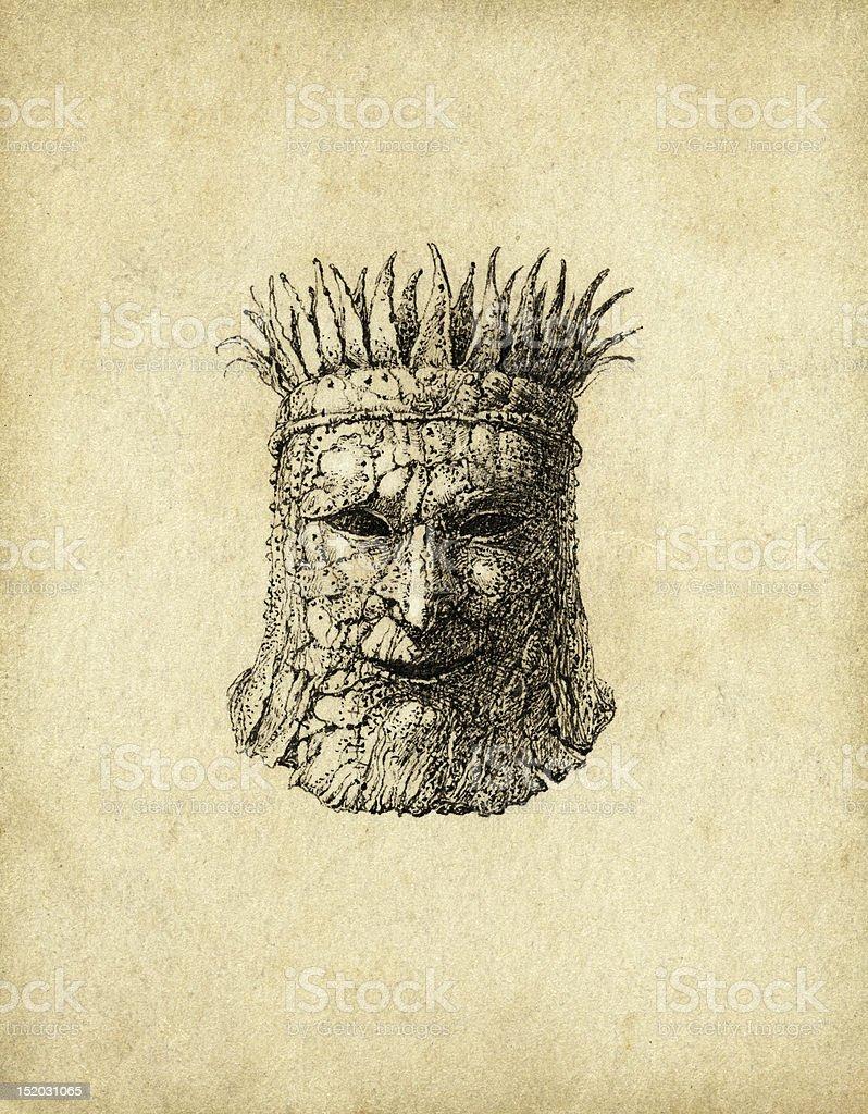 Fantasy mask vector art illustration