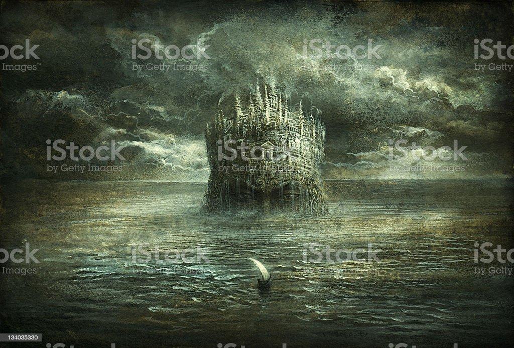 Fantasy Scene vector art illustration