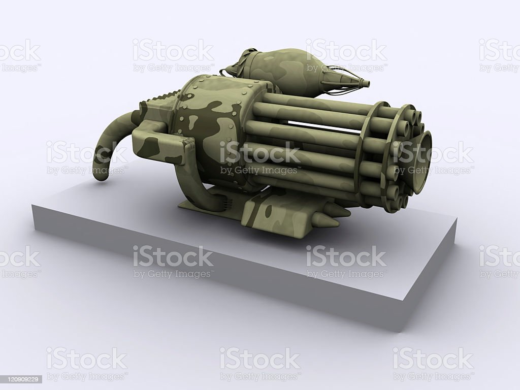 Fantasy weapon vector art illustration