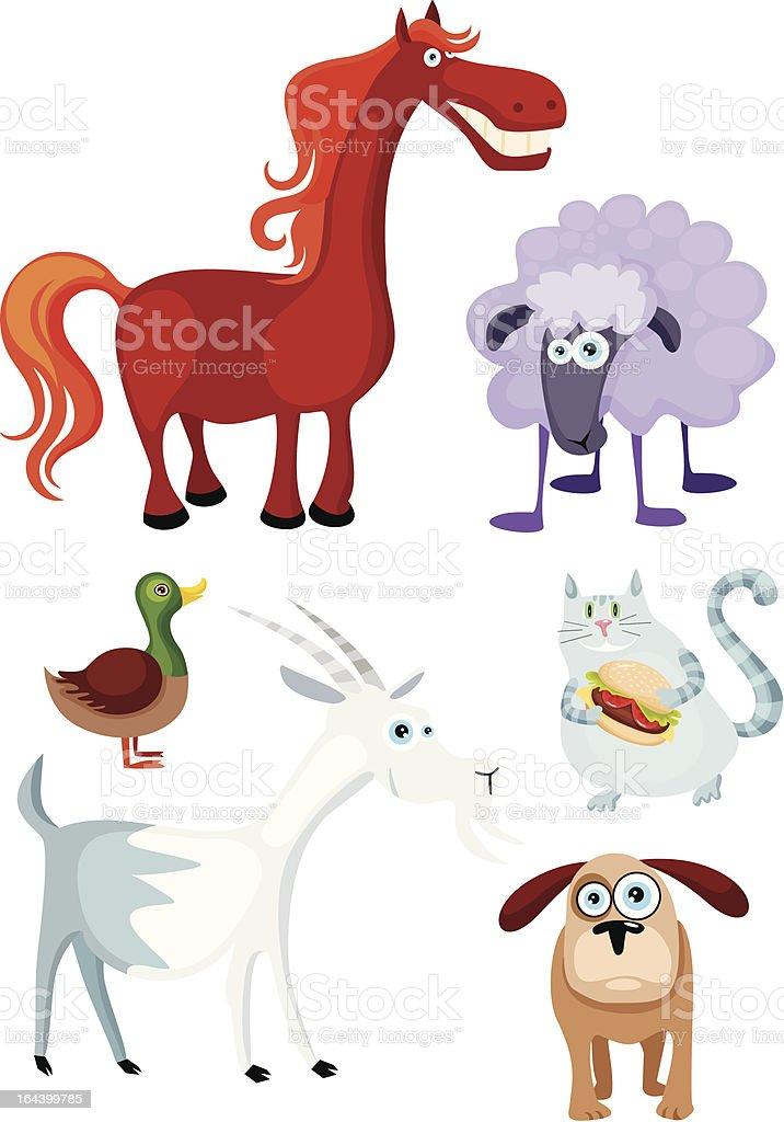 farm animal set royalty-free stock vector art