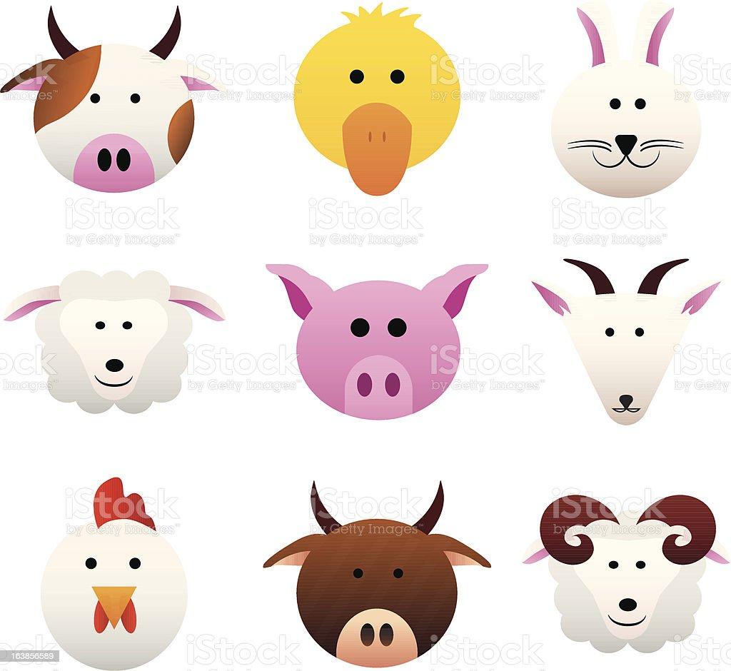 Zwierzęta hodowlane stockowa ilustracja wektorowa royalty-free