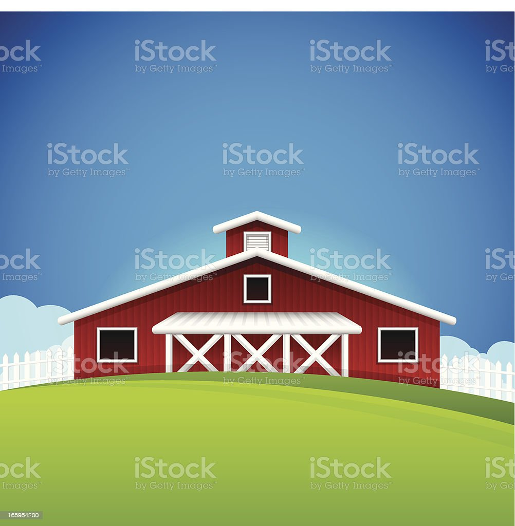 Farm Background royalty-free stock vector art