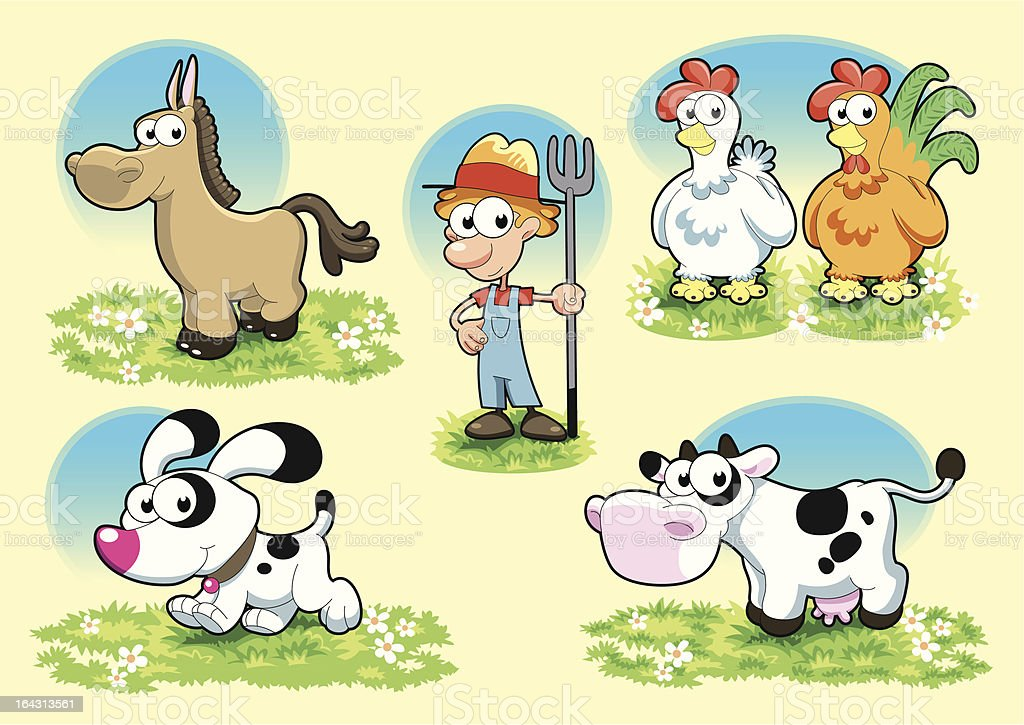 Farm Family royalty-free stock vector art