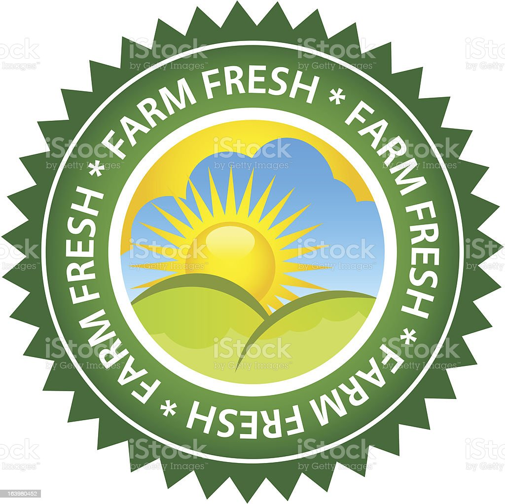 Farm Fresh Food Label vector art illustration