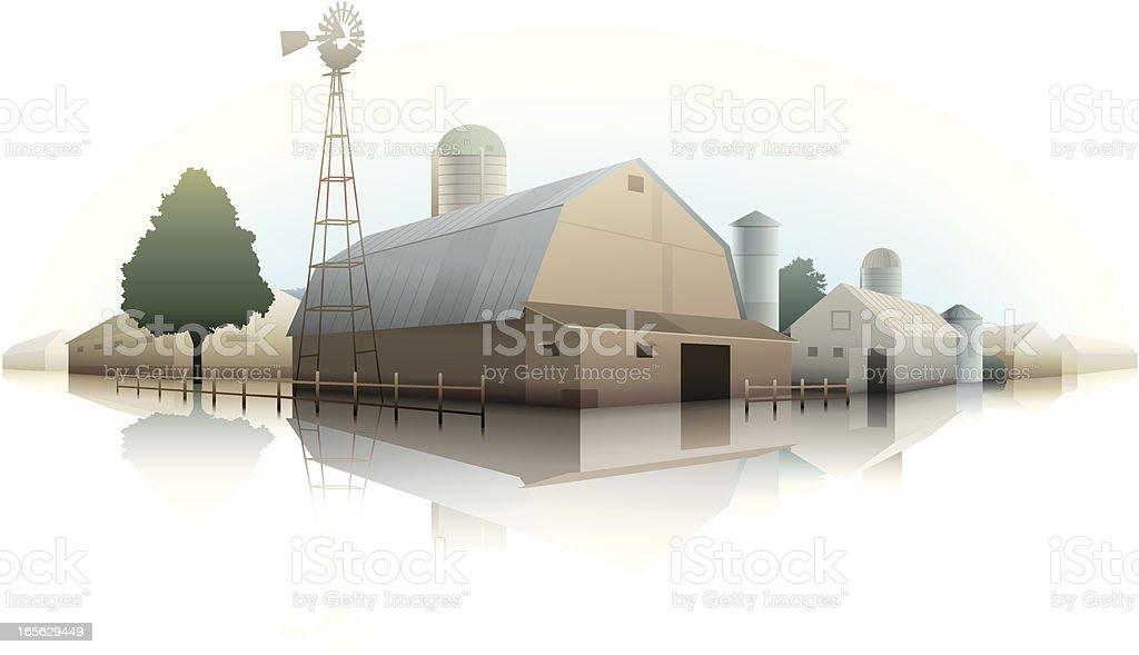 Farm illustration vector art illustration