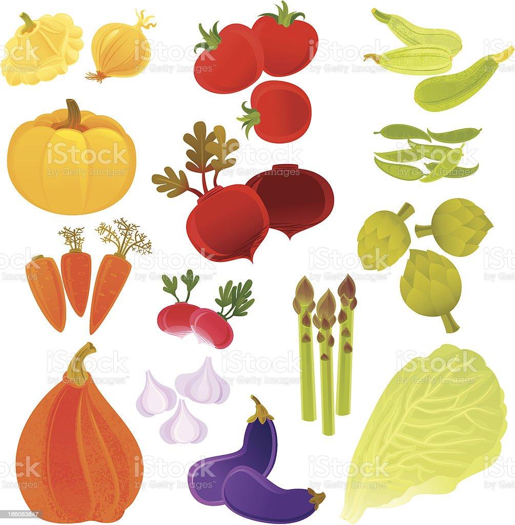 Farmer's Vegetables royalty-free stock vector art