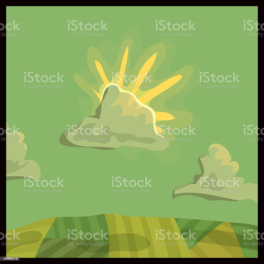 Farmland vector art illustration