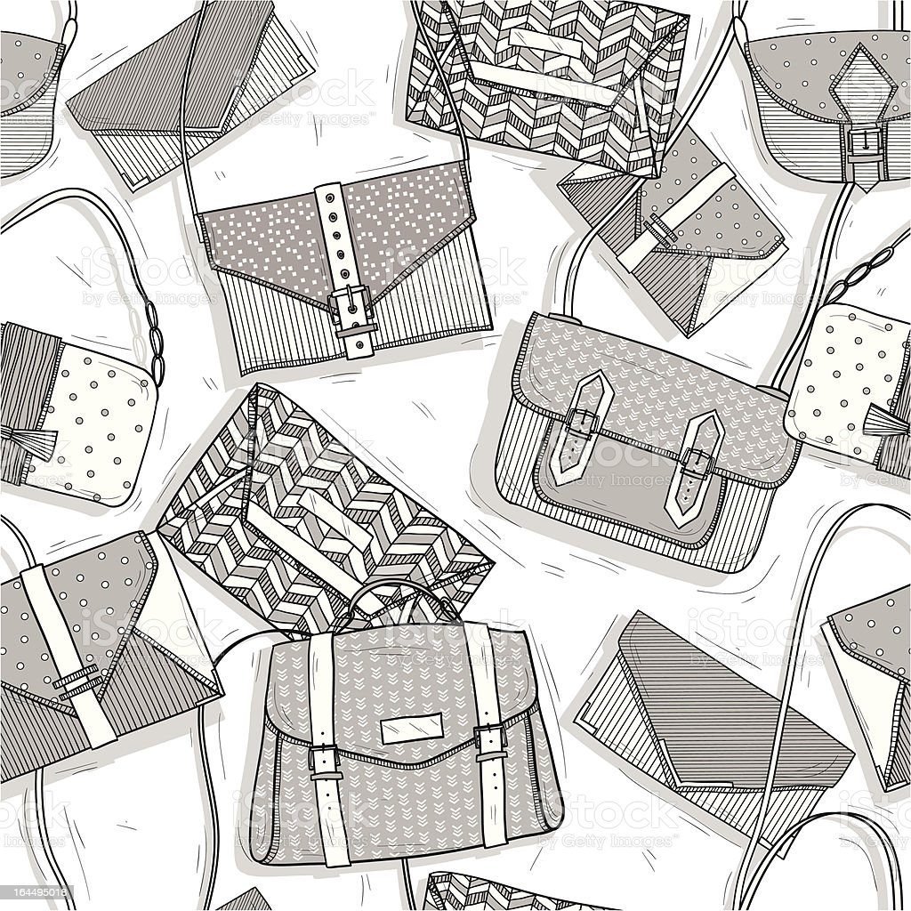 Fashion bags seamless pattern for girls royalty-free stock vector art