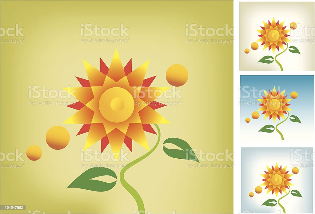 Fashion Flower royalty-free stock vector art