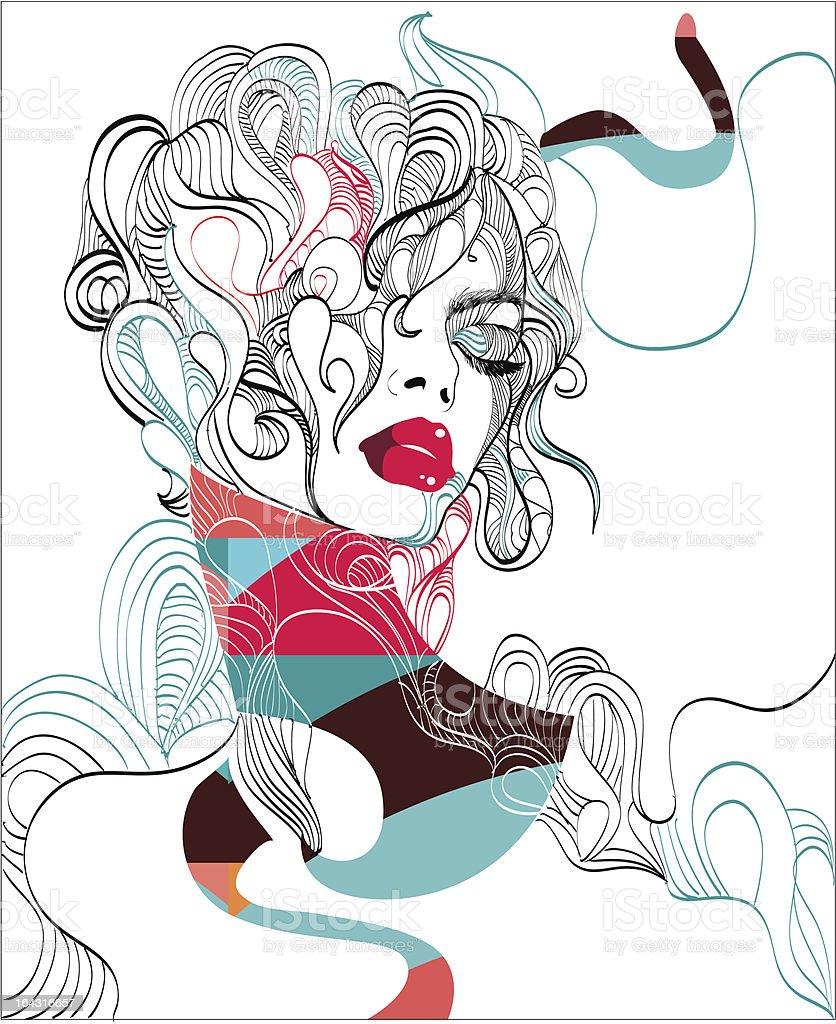 Fashion illustration royalty-free stock vector art