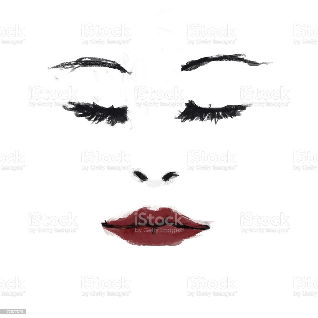 Fashion illustration, Rough painting style royalty-free stock vector art