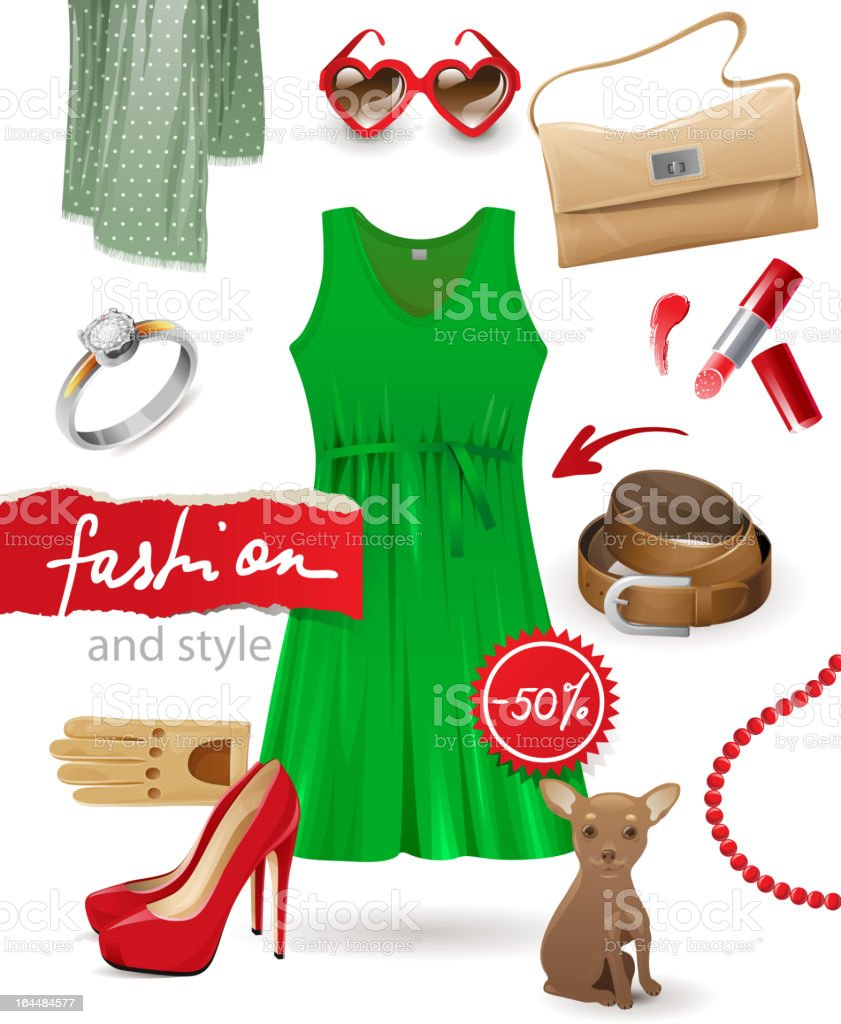 fashion look royalty-free stock vector art