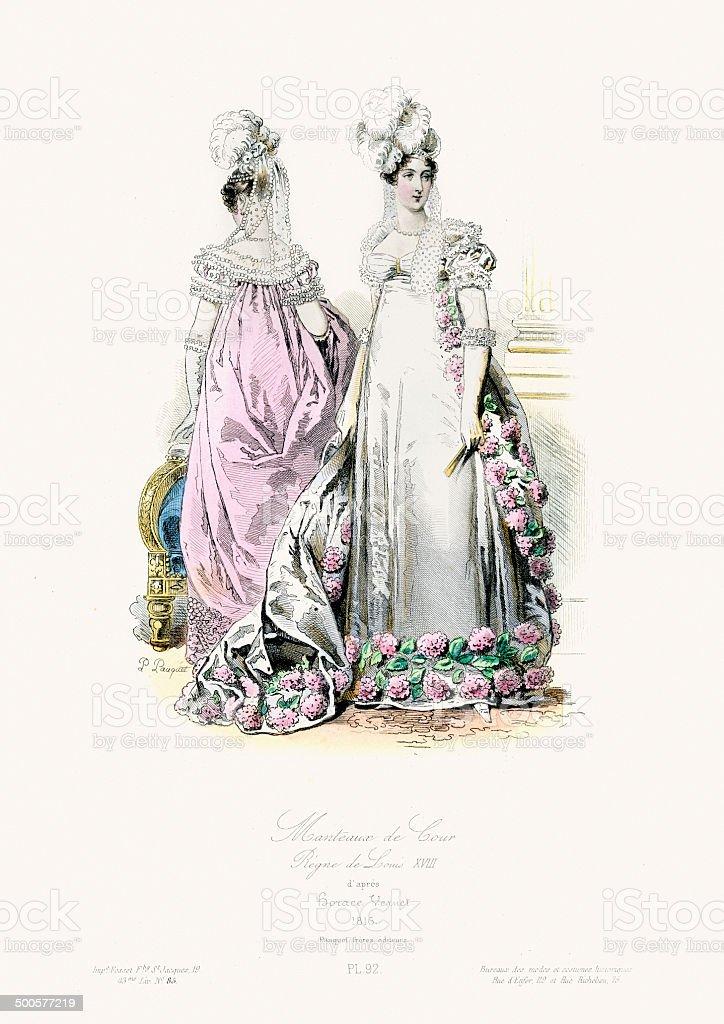 Fashion of the early 19th Century royalty-free stock vector art