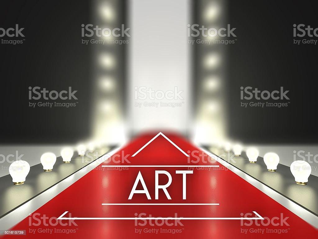 Fashion runway art on red carpet catwalk royalty-free stock vector art