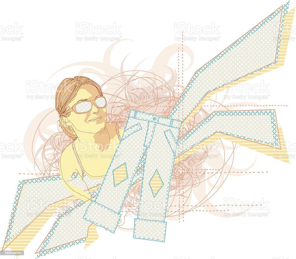 Fashion Statement vector art illustration