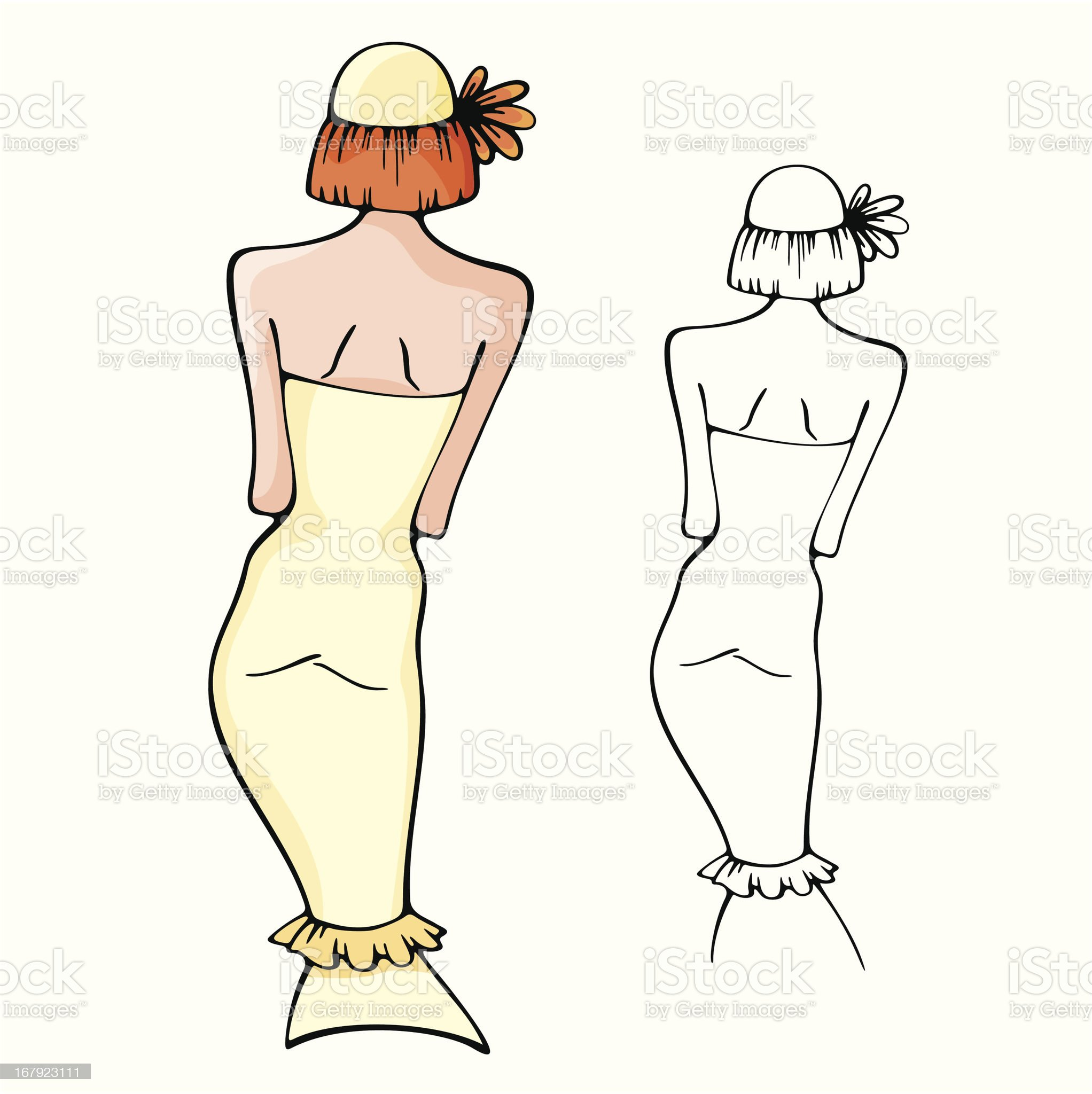 Fashion Woman Vector Illustration Series royalty-free stock vector art