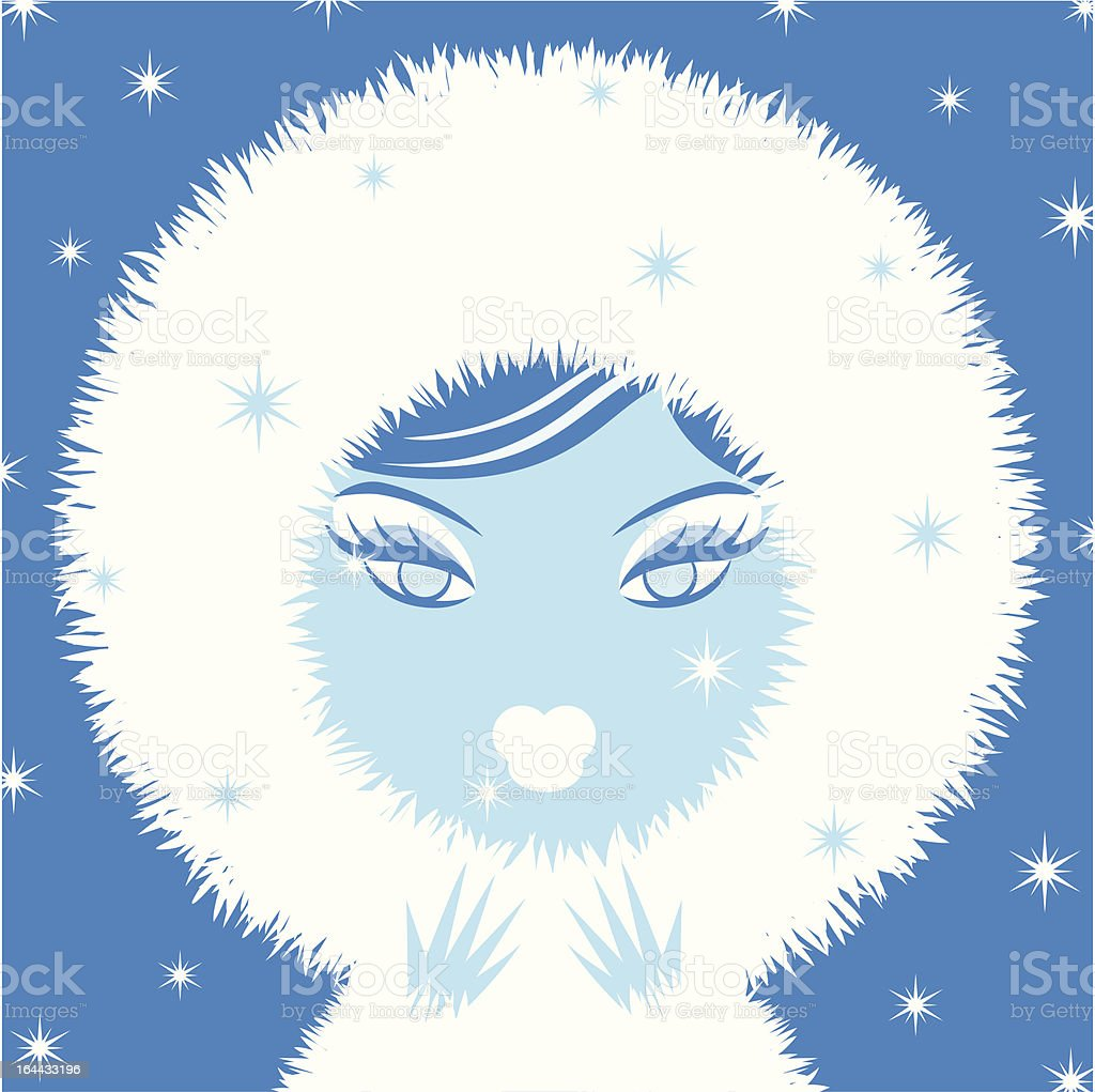 Fashionable Winter Woman vector art illustration