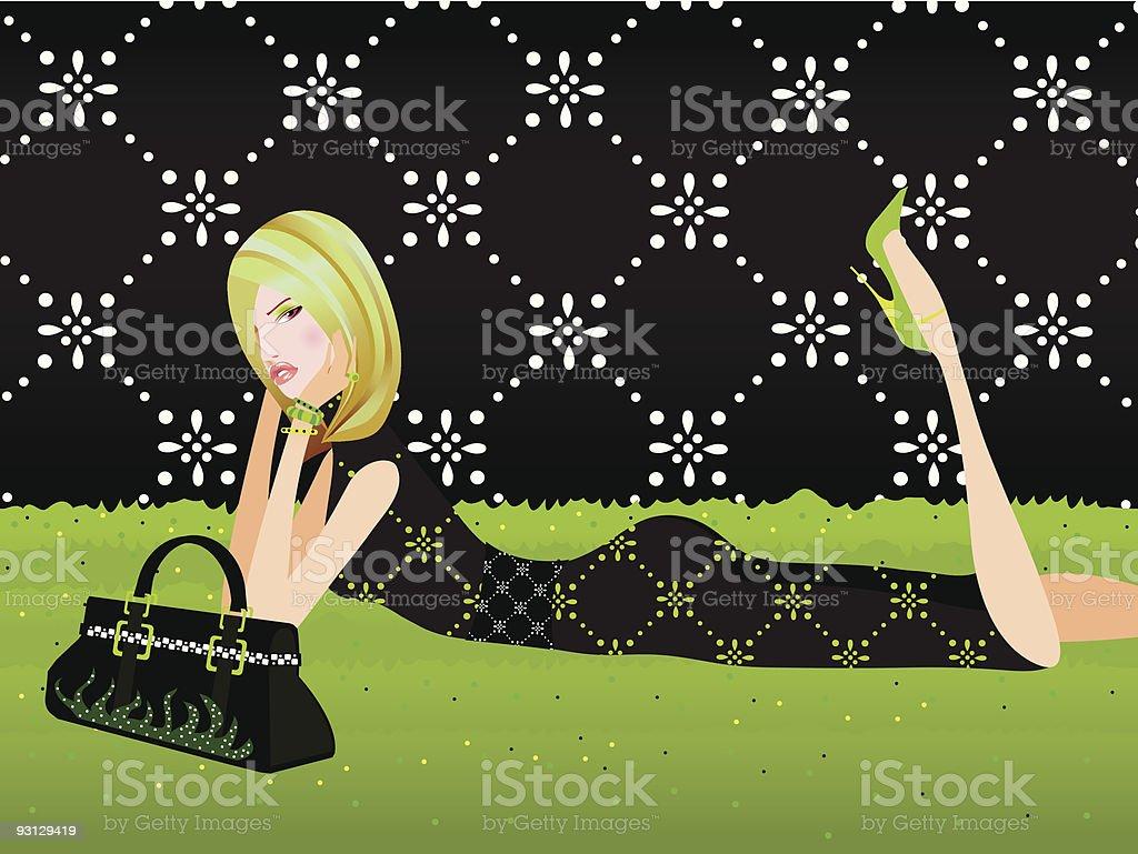 Fashionista royalty-free stock vector art