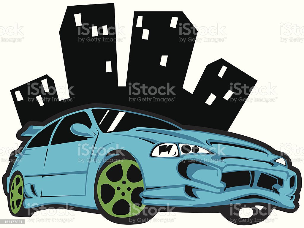 fast and furious vector art illustration