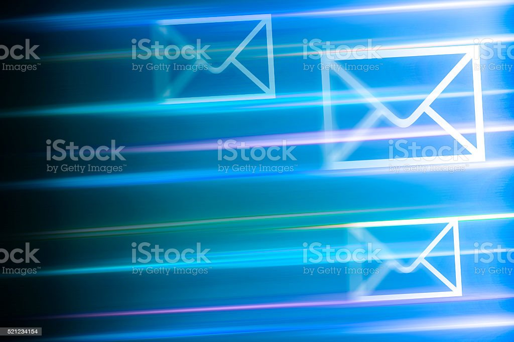Fast communication stock photo