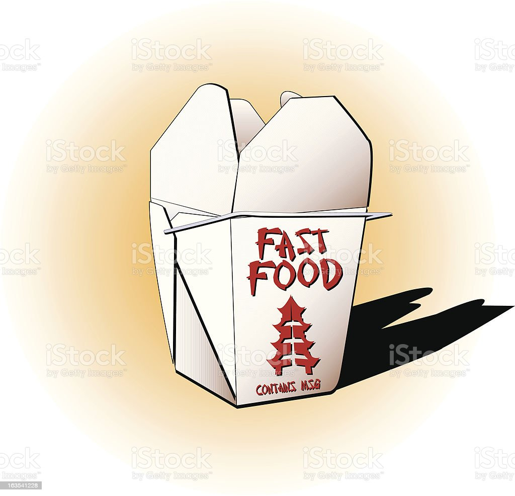 Fast Food (contains MSG) vector art illustration