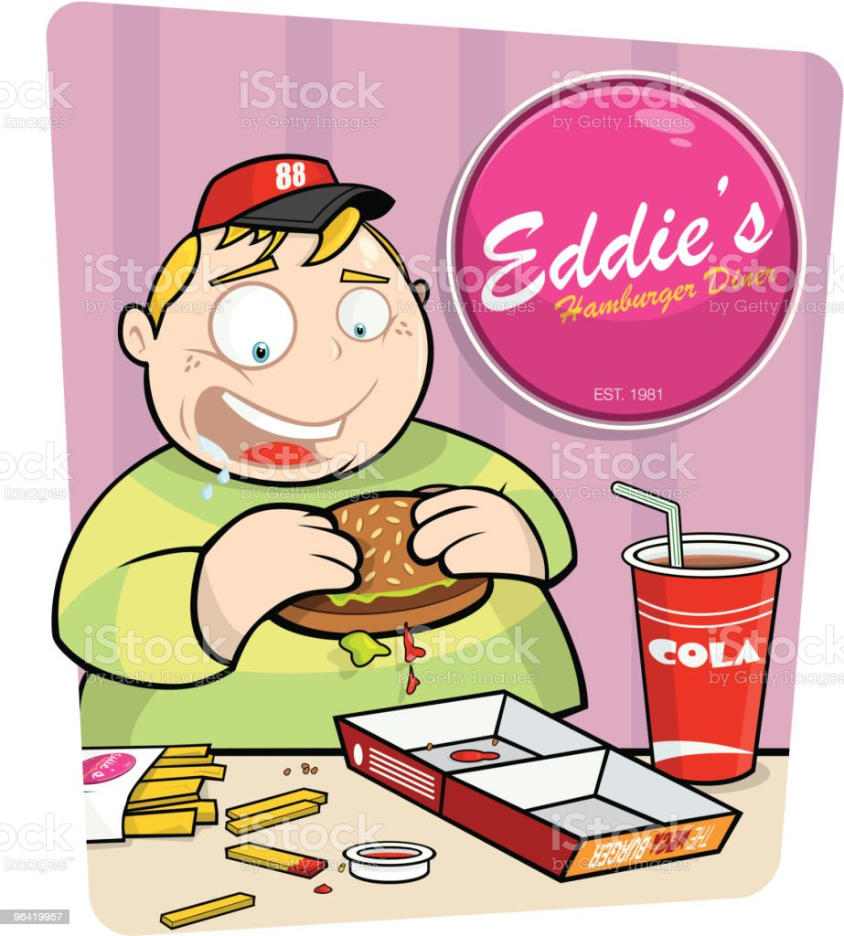 Fast Food nation vector art illustration