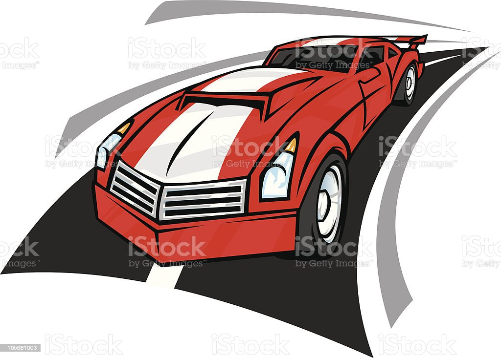 fast sports car royalty-free stock vector art