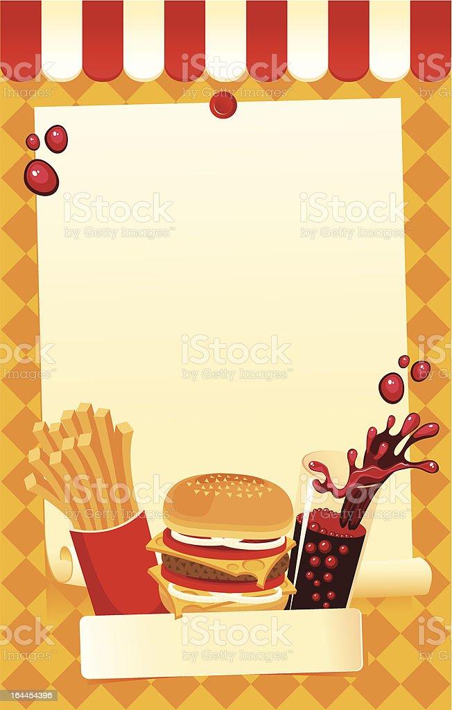 fast-food menu royalty-free stock vector art