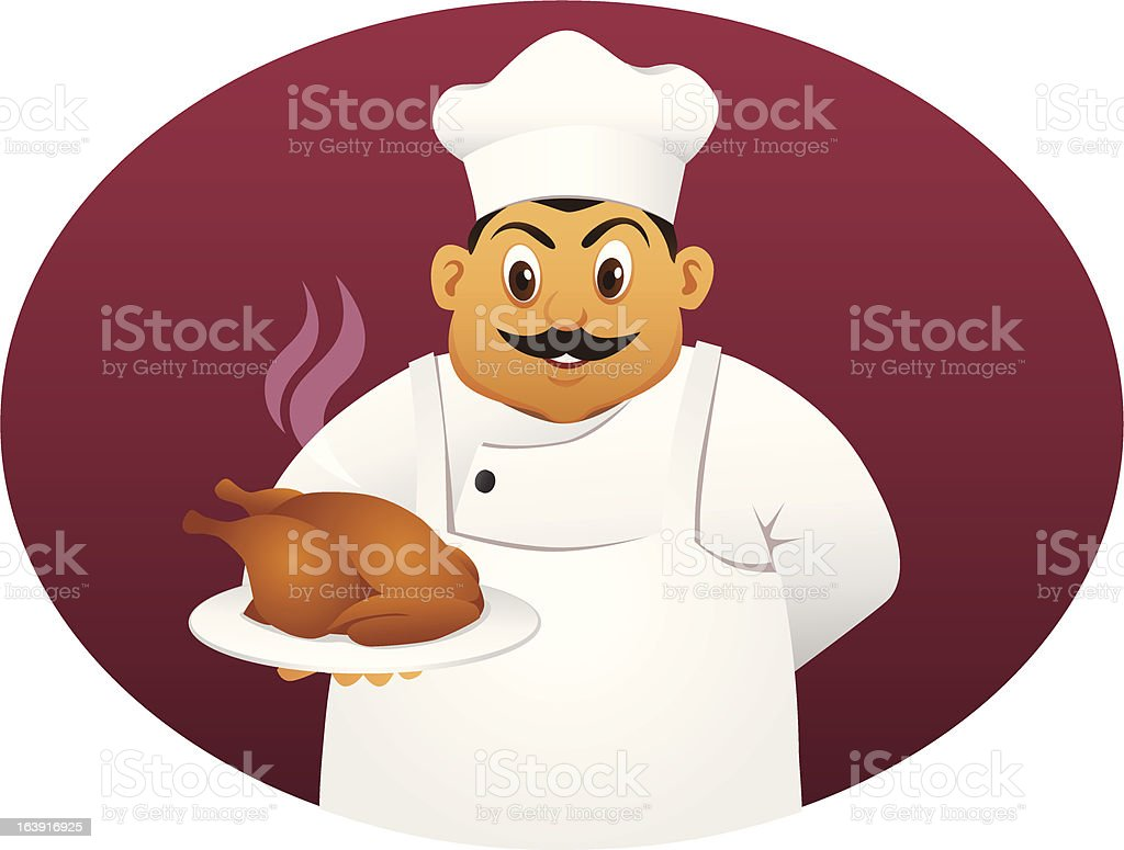 fat chef royalty-free stock vector art