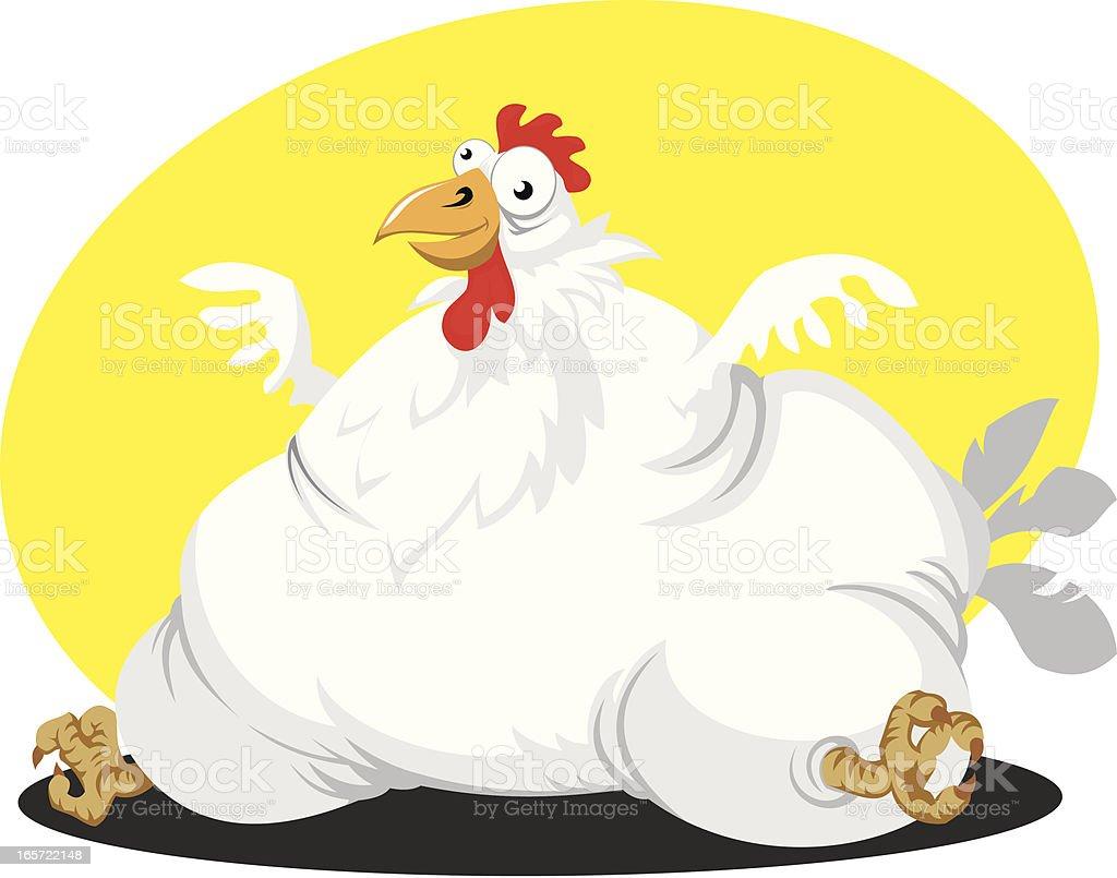 Fat chicken royalty-free stock vector art