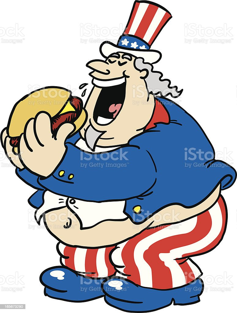 fat uncle sam royalty-free stock vector art