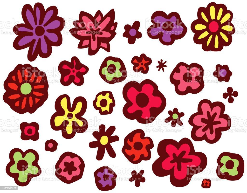 Fatty Blooms vector art illustration