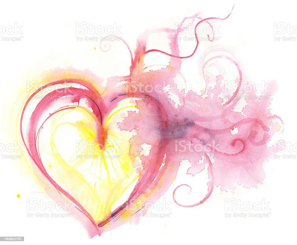 fearless heart vector art illustration