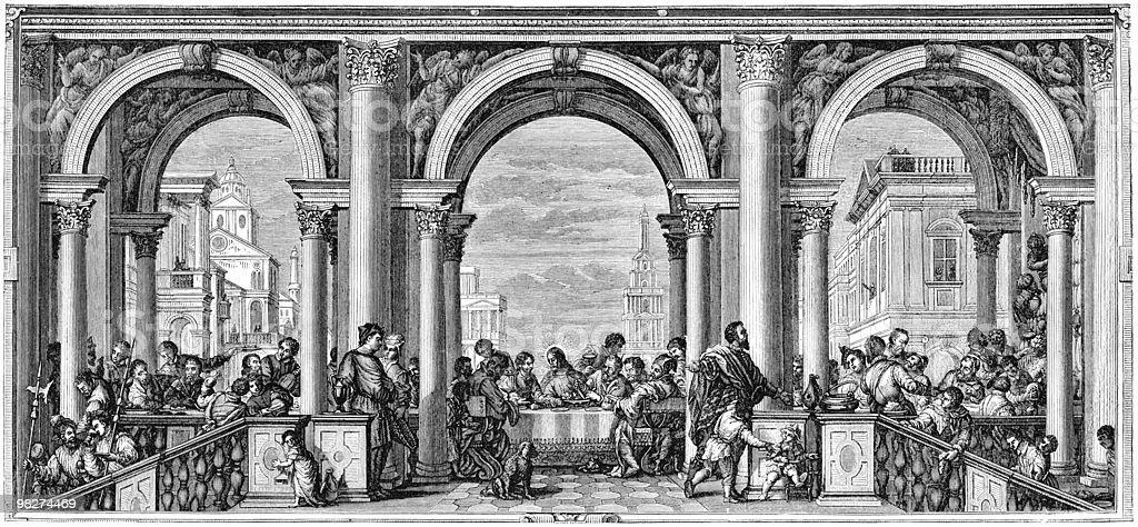 Feast in the House of Levi by Paolo Veronese royalty-free stock vector art