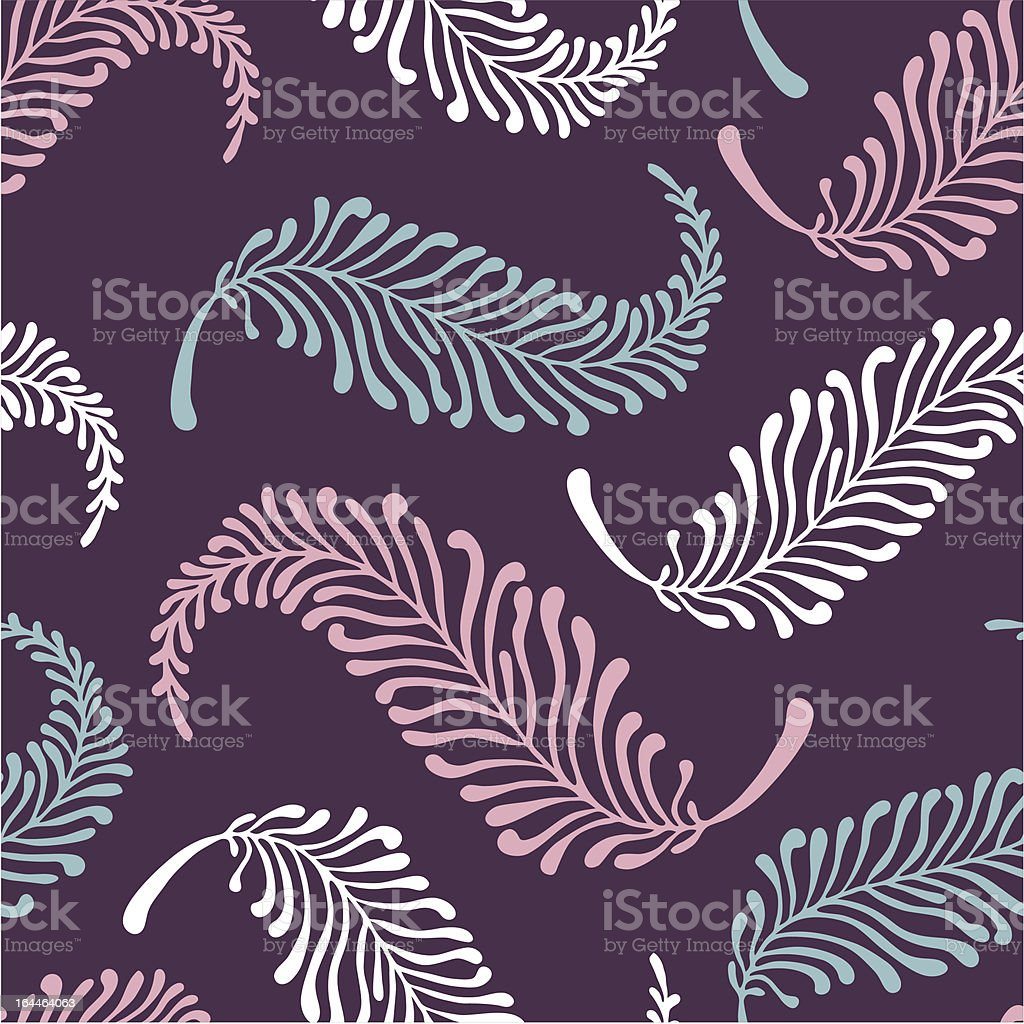 feater-pattern-on-purple royalty-free stock vector art